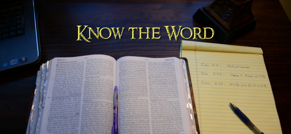 Know the Word - Bible and Note Pad