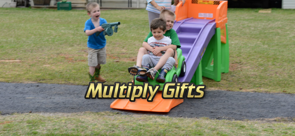 Multiply Gifts - Kids on roller coaster ramp